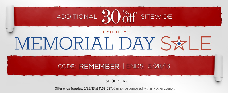 Memorial Day Hair Extensions Sale 2013 - Get 30% Off Sitewide